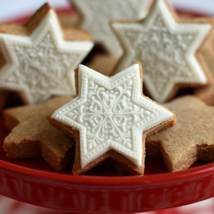we used our christmas star ornament star and star within a star springerle cookie molds to make the beautiful impressions you can find our marshmallow
