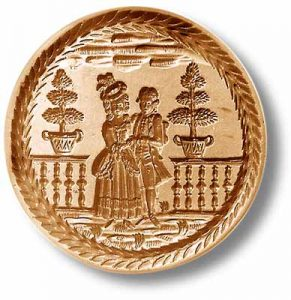 Mold 5968: Loving Couple circa 1780 Springerle Cookie Mold