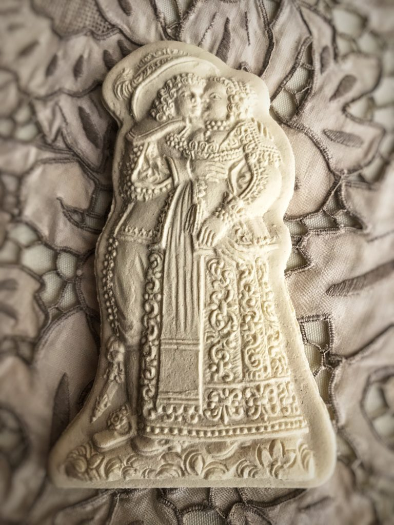 Mold 5670: Loving Couple circa 1720 Springerle Cookie Mold